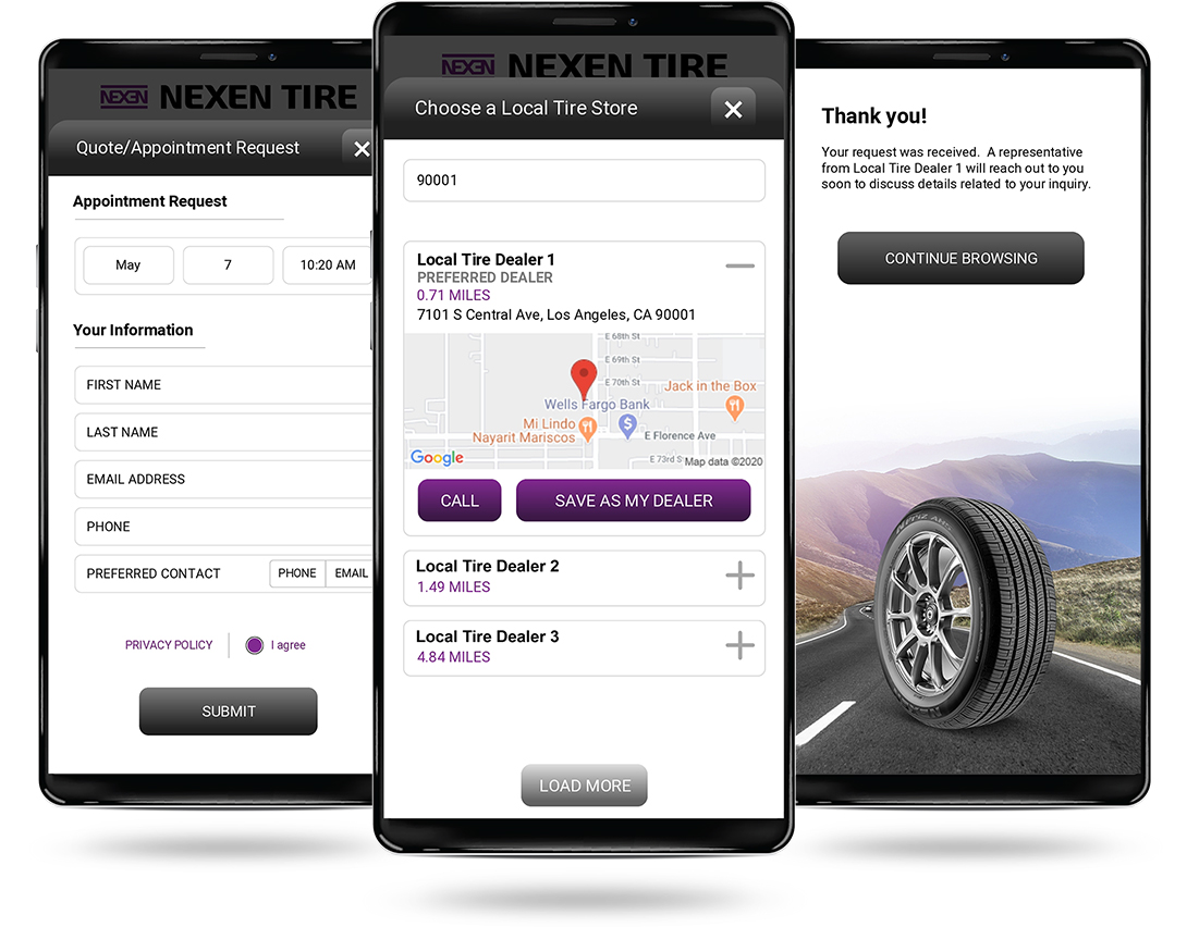Nexen Mobile/Phone app