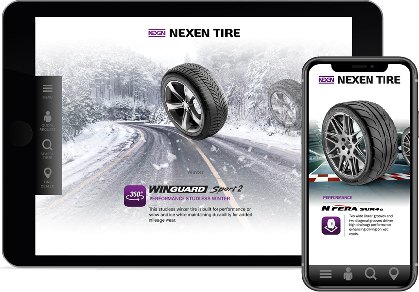 Nexen App tablet or phone
